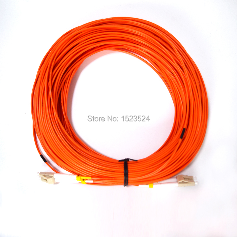 Free Shipping Fiber Optic Patch Cord LC/UPC-LC/UPC Multi-mode MM Duplex Fiber Jumper 62.5/125um 2.0mm 50 Meters
