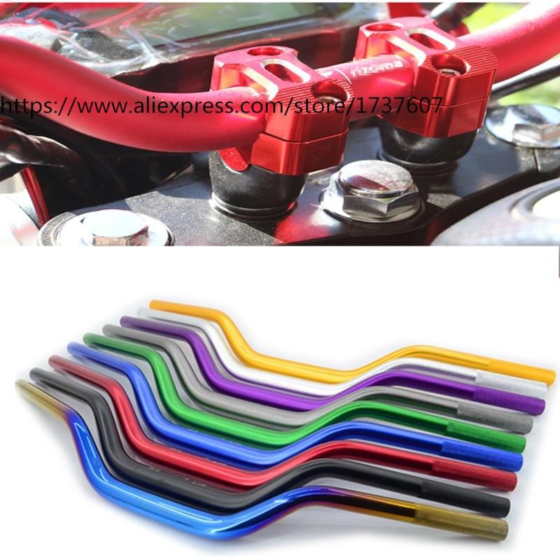 1pcs Τιμόνι μοτοσικλέτας 22 * 700mm (28,6 mm στη μέση) Λαβή αλουμινίου Πολύχρωμο προαιρετικό για BWS125 MSX125