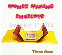Money Making Envelope Three Times Magic Trick Scraves Magic Props Comedy