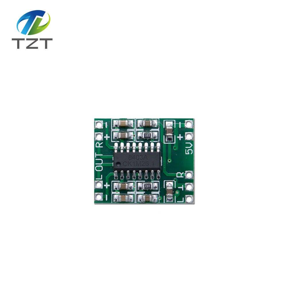 TZT PAM8403 modulo Super mini bordo amplificatore digitale 2*3 W Classe bordo amplificatore digitale ad alta efficienza energetica 2.5-5 V