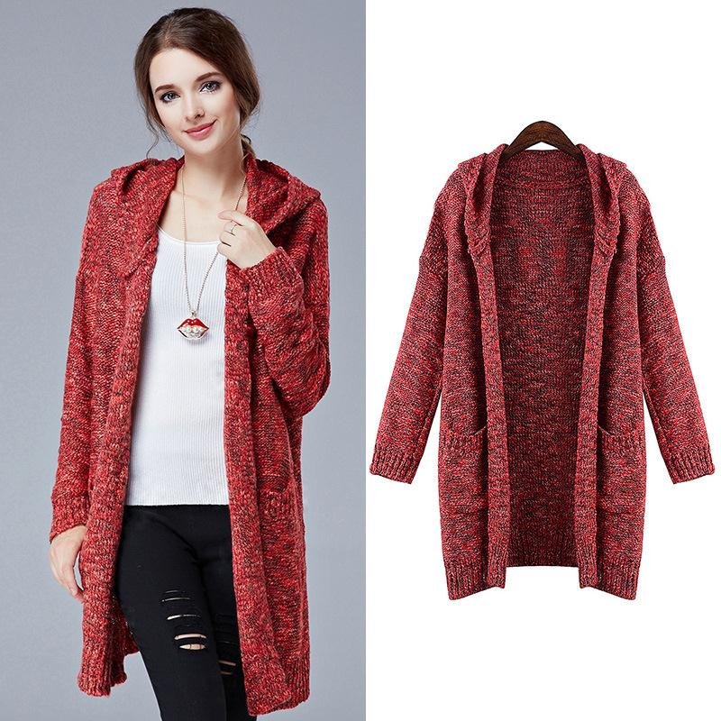 New arrival plus size Womens winter jackets and coats red sweater ...