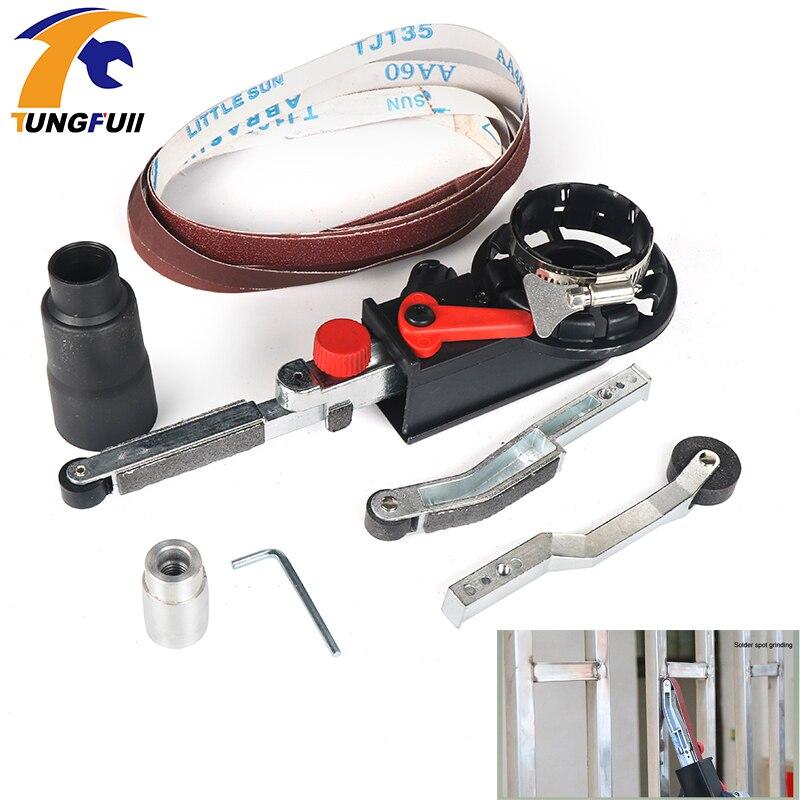 Tungfull шлифовальный ленточный шлифовальный адаптер ленточный шлифовальный станок для 100 мм 4