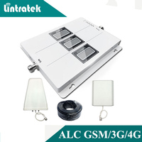 Lintratek ALC GSM 900 3G 2100 LTE 1800 Cellular Signal Booster Tri Band Repeater LCD Display