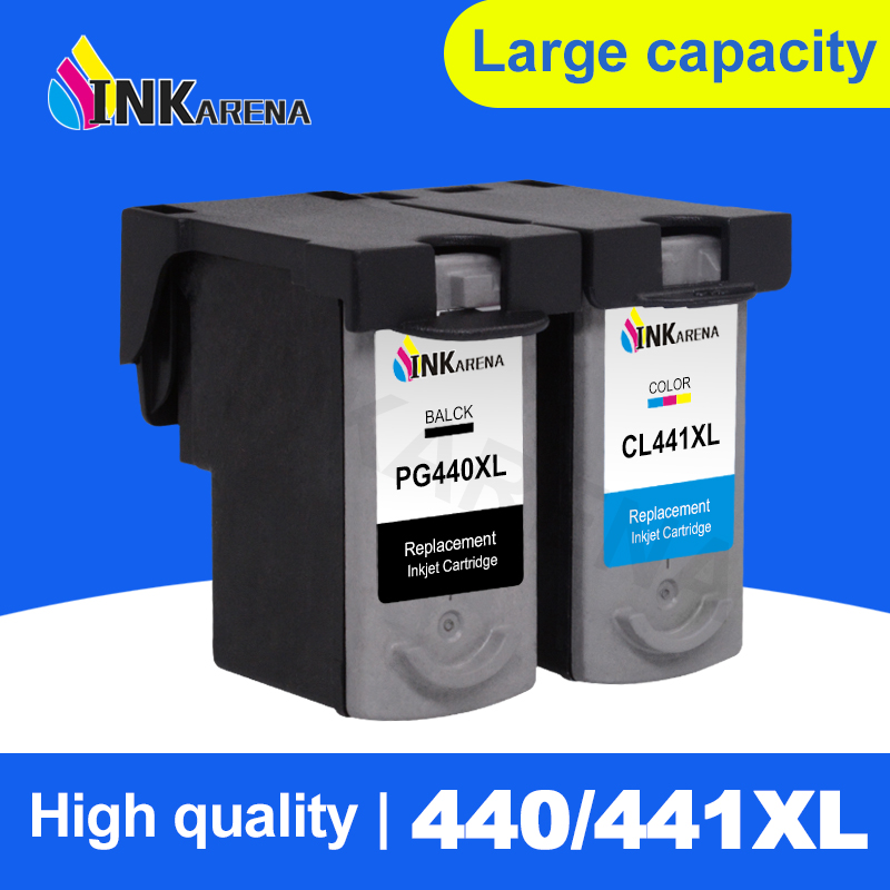 INKARENA PG440XL PG440 PG-<font><b>440</b></font> <font><b>XL</b></font> PG <font><b>440</b></font> Ink Cartridge Black for <font><b>Canon</b></font> PIXMA MG2180 MG2240 MG3180 MG4180 MG4280 MX378 MX438 Print image