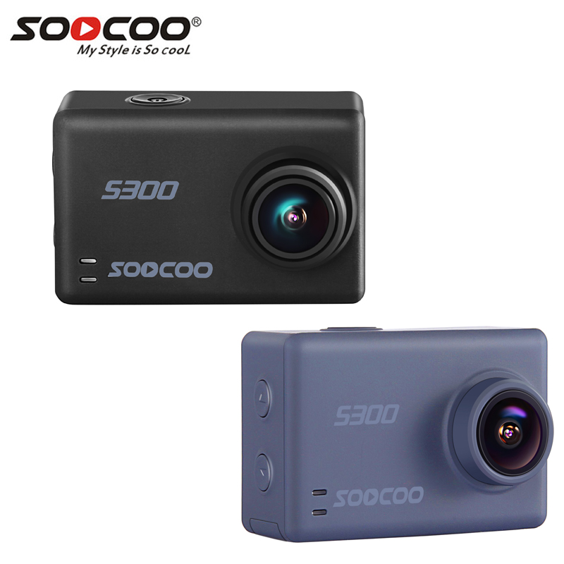 D'origine SOOCOO S300 Sport Action Caméra Cam Ultra HD 1080 P 4 K 30fps Hi3559V100 IMX377 avec WiFi Commande Vocale 2.35 tactile LCD