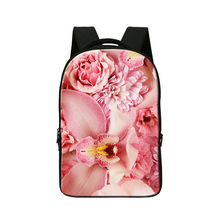 Розовый Цветок Печати Ноутбук Рюкзак для Колледжа Девочек, Персонализированные Компьютер рюкзак для Женщин, Учащихся Средней Школы, День пакеты