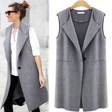 Casual sleeveless blazer vest woman ladies femme female summer black gray plus size oversized big quilted long suit vests jacket