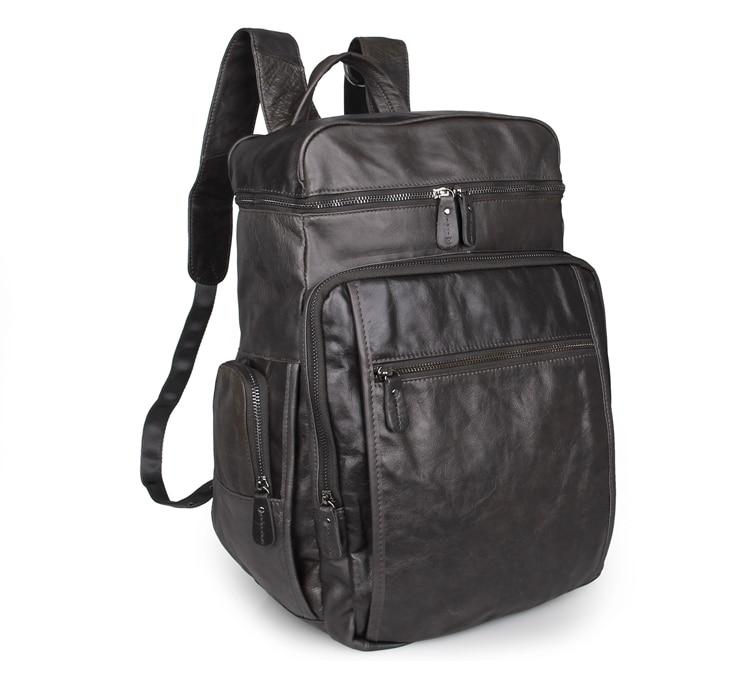 все цены на New Arrival 100% Excellent Genuine Leather Gray Laptop Backpacks Tote Bag 7202I онлайн