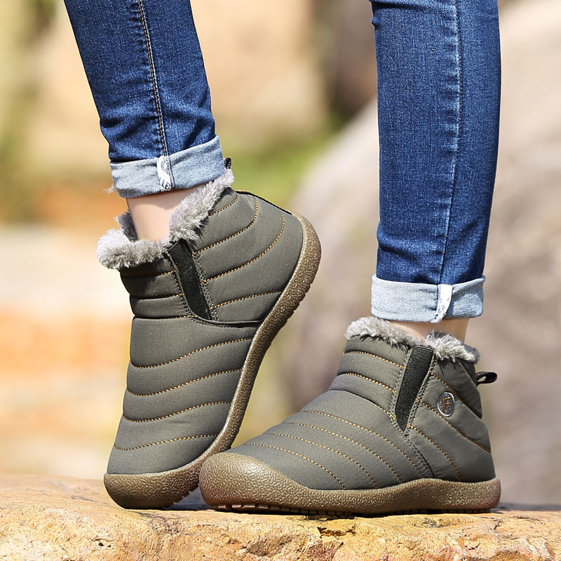 2018 Men Winter Keep Warm Plush Ankle Woman casual Shoes Snow boots Outdoor Waterproof adults Sneakers Unisex Large size 36-47