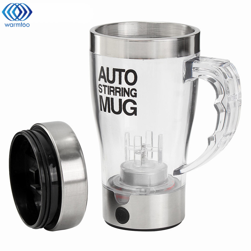 Auto Stirring Mug Blender 500ML Electric Protein Shaker Mixer Lazy Self Stir Milk Coffee Cup Smart Mixer Bottle Office Household self stirring coffee cup mugs automatic stirring coffee cup milk tea cup the stainless steel tank self mixing cup