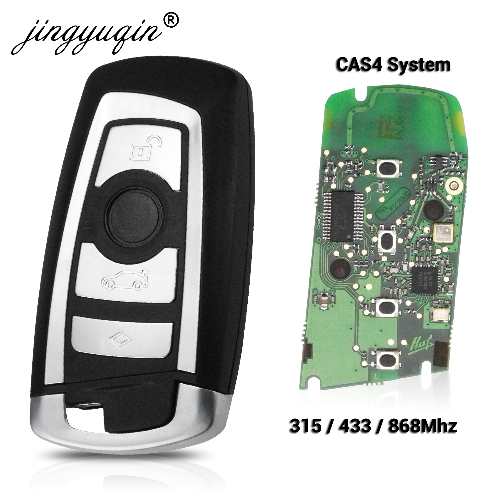 Умный дистанционный ключ jingyuqin 315/433/868 МГц, KeylessGo для BMW 3 5 7 серии 2009-2016, система CAS4 F, брелок KR55WK49863 pcf7945