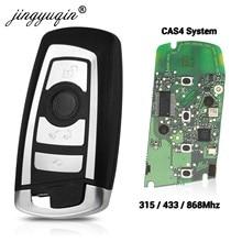 Jingyuqin 315/433/868Mhz inteligentny klucz zdalnego KeylessGo dla BMW 3 5 7 seria 2009-2016 CAS4 F System Fob KR55WK49863 pcf7945