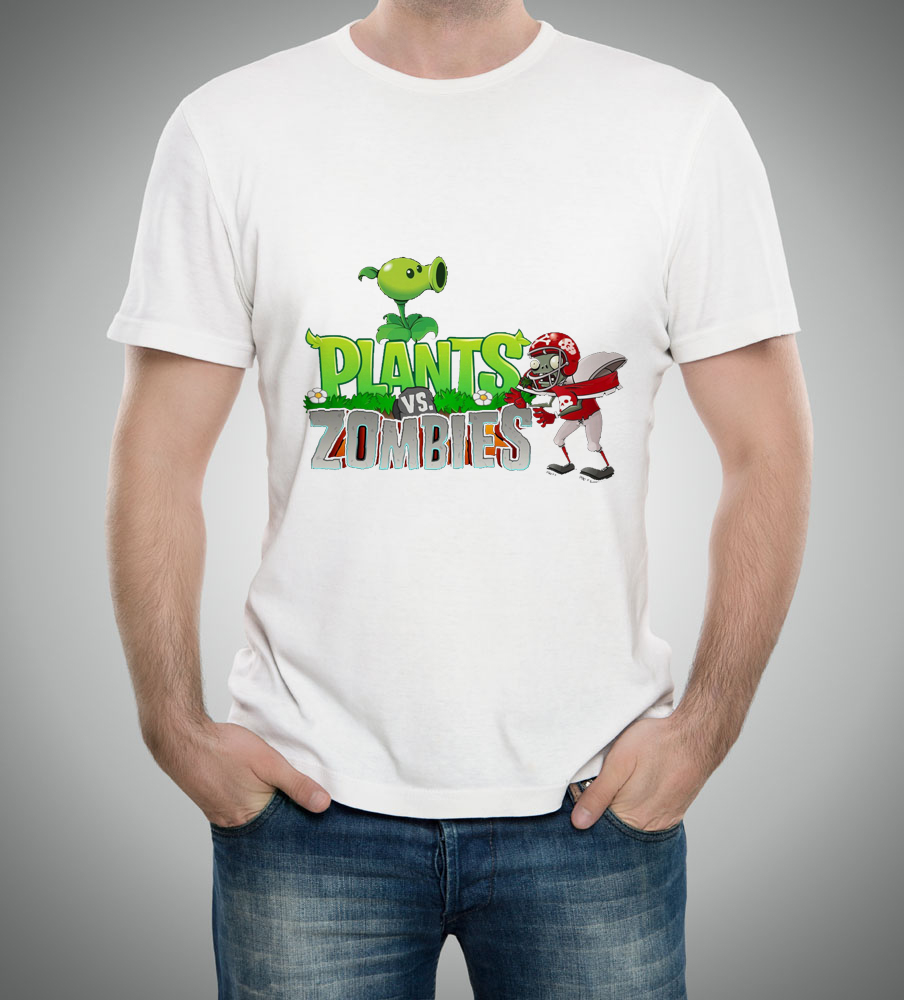 GILDAN New Plants Vs. Zombies T Shirts Teen Cartoon Men Zombies Boys T-Shirts Clothing Discount