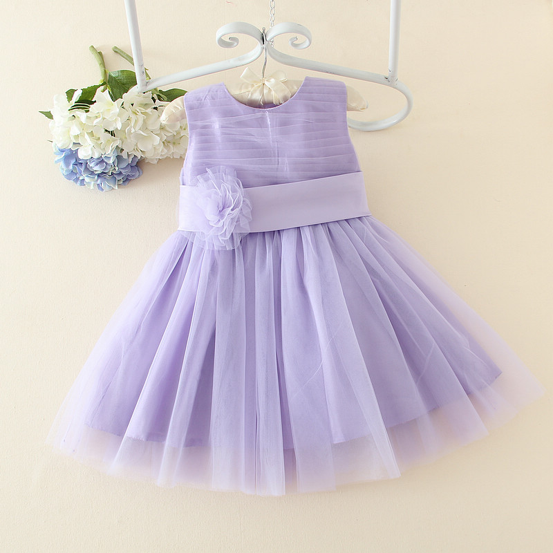 bcb89d70829a Blue purple Flower Girl Christening Gowns Girl First Communion Dress ...