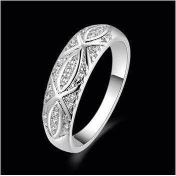 мода ювелирные изделия кольцо реального посеребренные циркон скульптура цветок кольцо бесплатная доставка оптовая продажа zs421