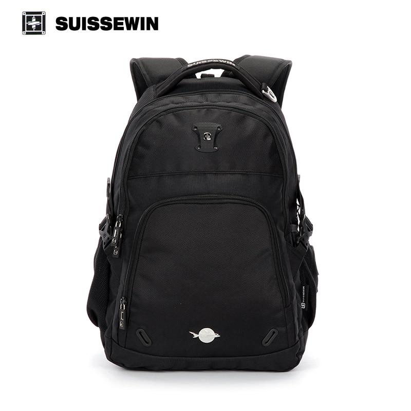 ФОТО Suissewin Male Waterproof Men's Backpack Large Capacity Laptop Bag pack Swiss Backpack Schoolbag Teenager Boy Mochila Gear 2017