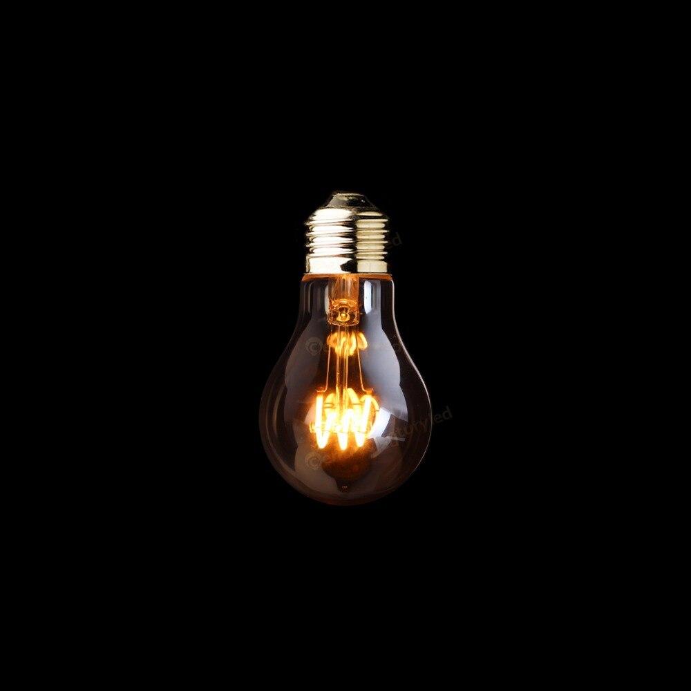 A19 Amber Shape,3W Dimmable Edison  LED Soft  Filament Bulb,Super warm 2200K,E26 E27 Base,Decorative Household Lighting european candelabra edison screw base e14 4 watt 4w dimmable g45 amber glass retro led filament small globe light bulb g14 e12