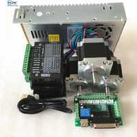 Livraison gratuite 3 pièces 57HS5630A4/D8 Nema23 moteur pas à pas + TB6600 conducteur + 5 Axes carte D'interface + alim pour CNC Routeur
