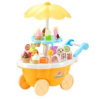 39 unids/set kichen juguete simulando coche pequeño niña mini carrito de dulces hielo supermercado hogar conjunto niños kichen juguete para niña los niños del bebé 4
