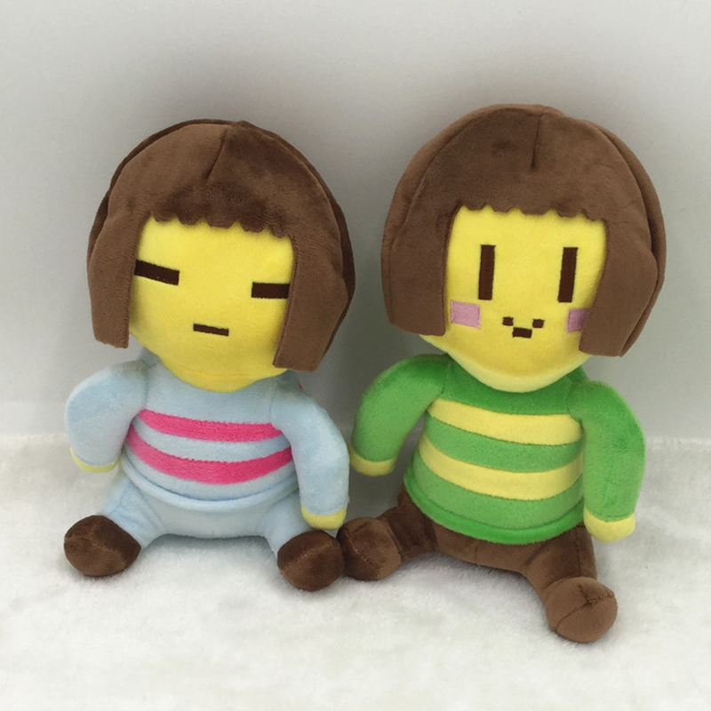 20cm Undertale Chara & Frisk Plush Doll Toy Soft Stuffed Toys For Children Kids Christmas Gifts