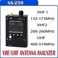 SURECOM SA250 132-173/200-260/400-519 MHz SA-250 Color Gráfico Analizador de Antena 409 TALLER de CONTROL de CALIDAD
