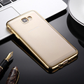 Plating Case For J7 Prime Slim Clear Crystal Back Electroplating Frame TPU Phone Case For Samsung Galaxy G6100 Cover Capa CL1041