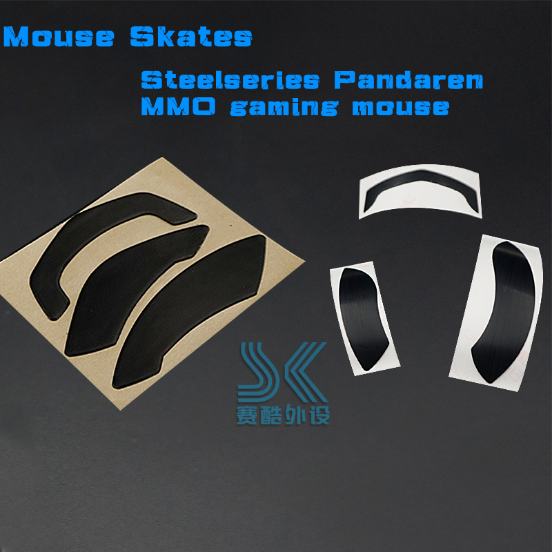 Teflon mouse foot skates for Steelseries wireless Pandaren edition WOW gold mouse MMO gaming Catacly 0.6mm Thickness replacement image