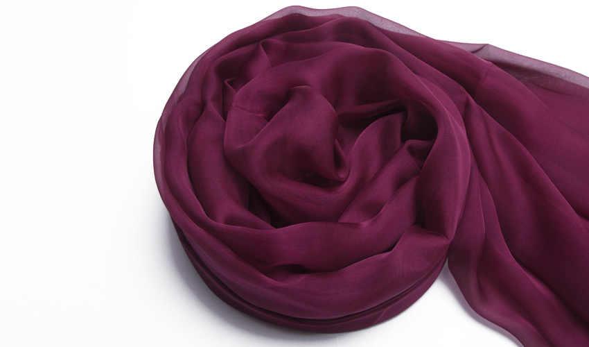 [BYSIFA] ロングデザイン大スカーフ岬のファッション天然シルクロングスカーフプリント春秋熱紫色の絹のスカーフショール