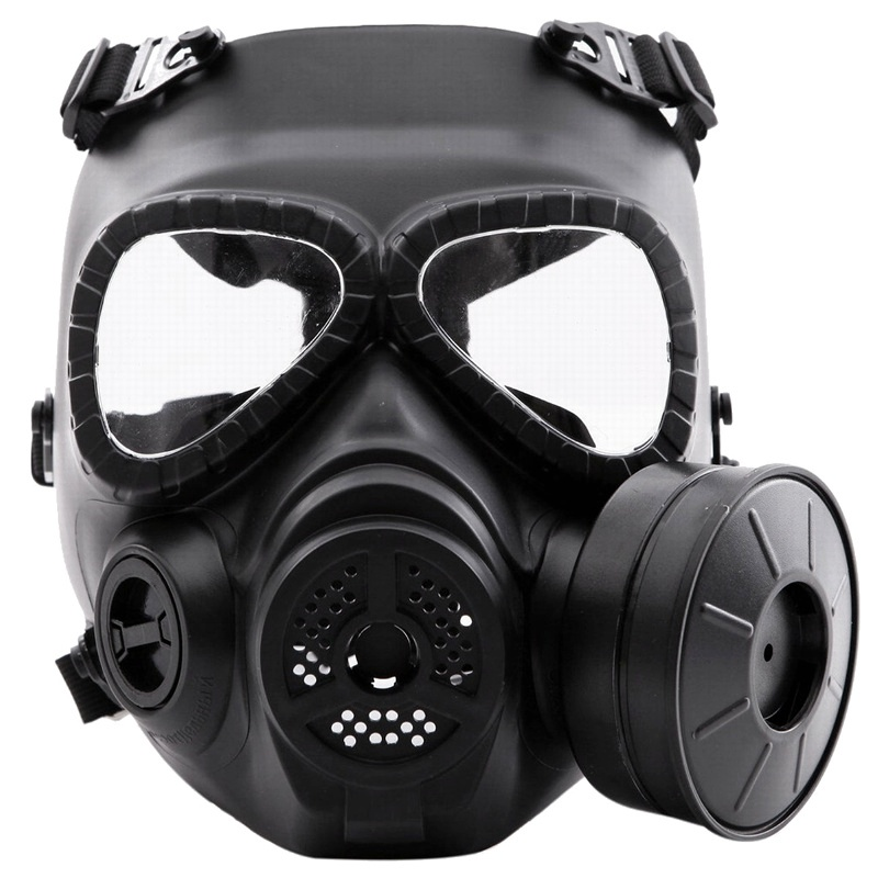 Tactical Head Masks M04 Dummy Skull Full Face Gas Mask With Fan Black Military Airsoft Paintball Wargame Cosplay Protection