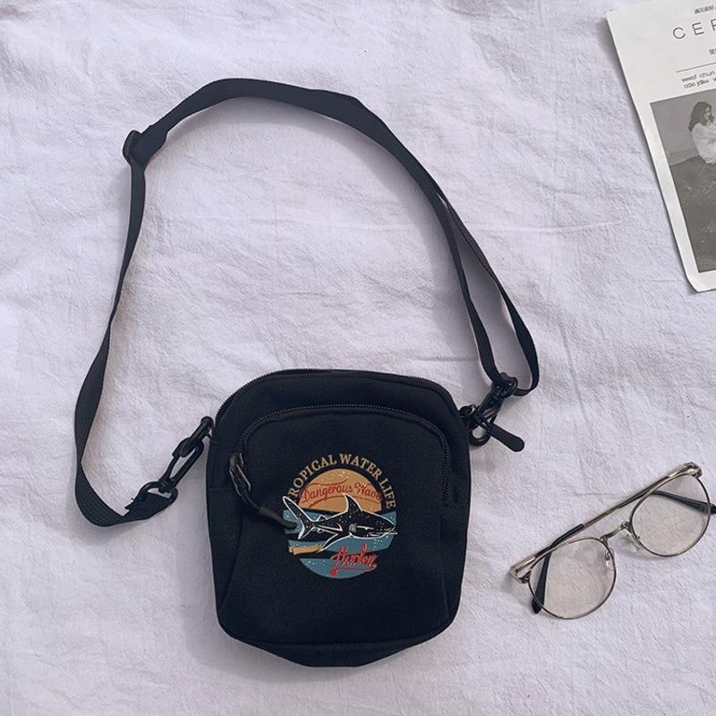 Mini ženske torbice platnene torbice majhne platnene ramenske - Torbice - Fotografija 5