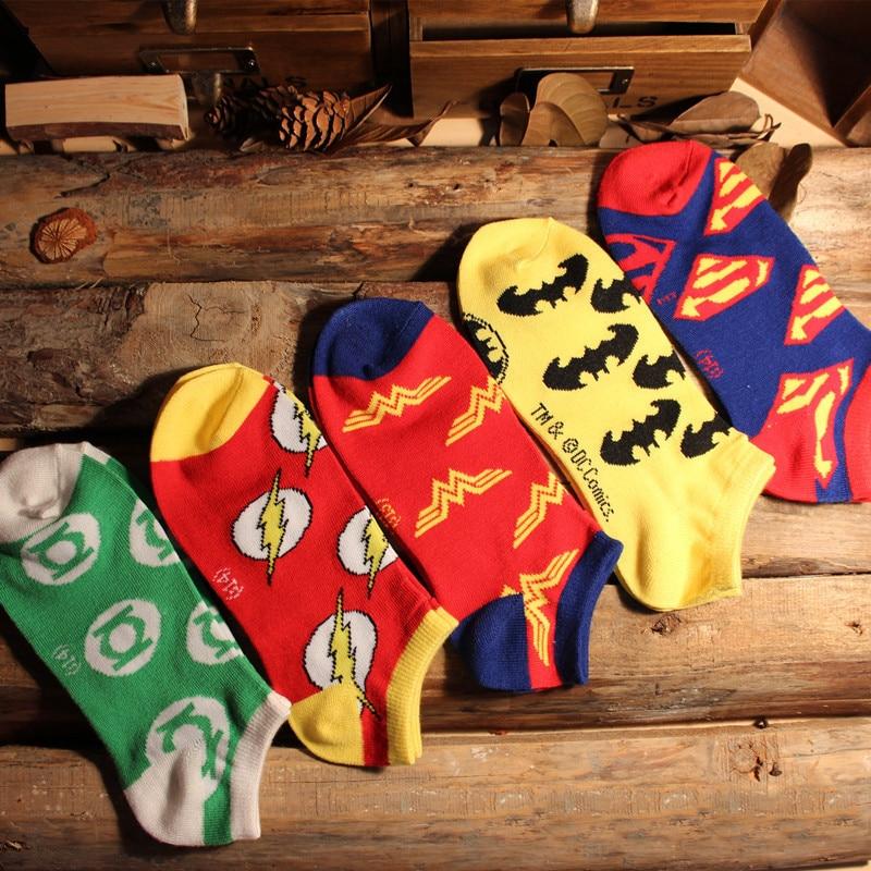 Hot Big Child Sock Avengers Marvel Cartoon Socks Batman Superman Fashion Sock Novelty Funny Casual Children Spring Summer Socks