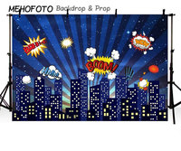 Night City Super City Superhero Skyline photo studio background Vinyl cloth High quality Computer print party backdrops