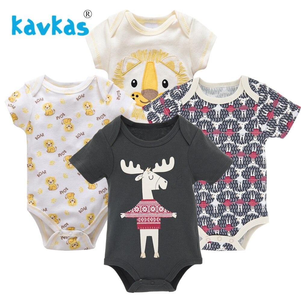 Kavkas/Пижама для младенцев 4 шт./компл. короткий рукав новорожденных Пижама для маленьких мальчиков/младенцев Одежда для маленьких мальчиков bossa nova