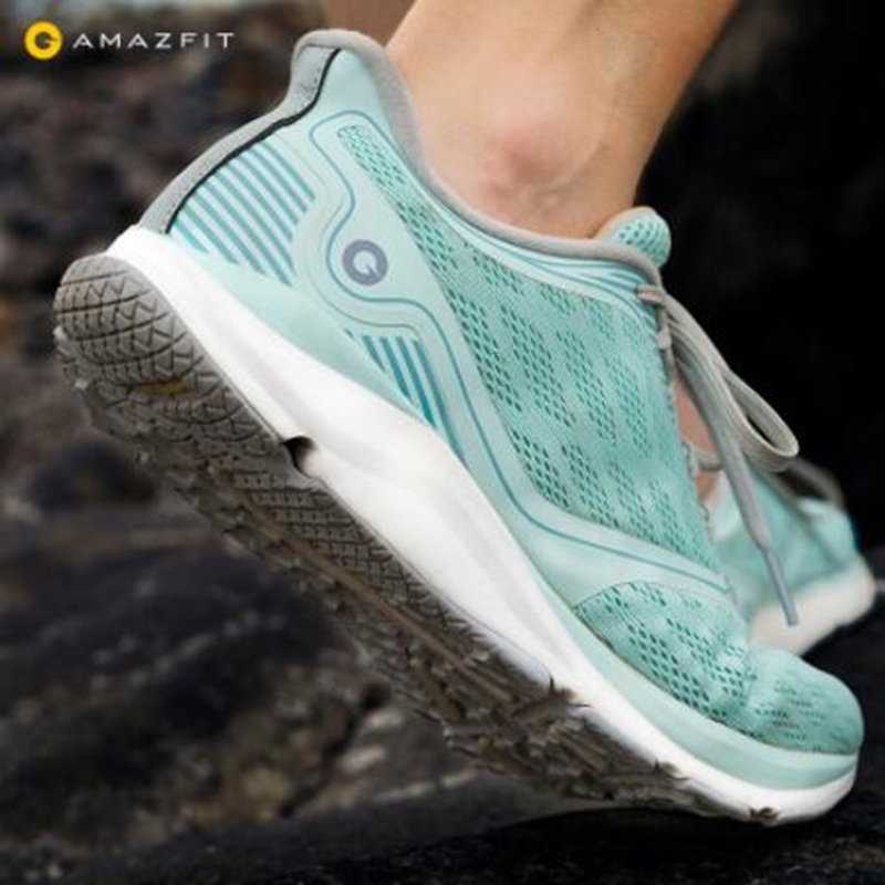 Original Xiaomi Amazfit Antelope Women Light Smart Shoes Female Outdoor Running Goodyear Rubber Support Smart Chip