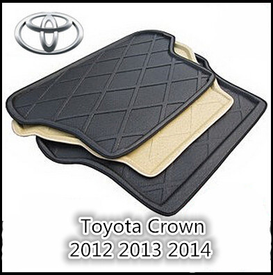 Trunk Tray Liner Cargo Mat Floor Protector foot pad mats For Toyota Crown 2012 2013 2014 (Black,Beige)