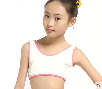 116e88a68f V-TREE cotton young girls training bra 10-15 years old children bras  Condole belt vest kids bra camisole for child