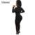 Abasona Brilhante diamantes de cristal sheer malha mulheres macacão de Verão preto sexy macacões nightclub Zipper bodycon mulheres macacão