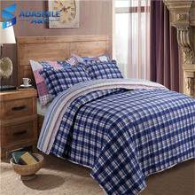 Pastoral Floral Bed Coverlet Set Warm Comfortable Pillow Cases Adults Classic Lattice Bedspreads Quilted Quilt 230*250cm