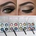 4 Colors Enchanting Eye Shimmer Eyeshadow Palette Waterproof Lasting Eyeshadow 4 Patterns