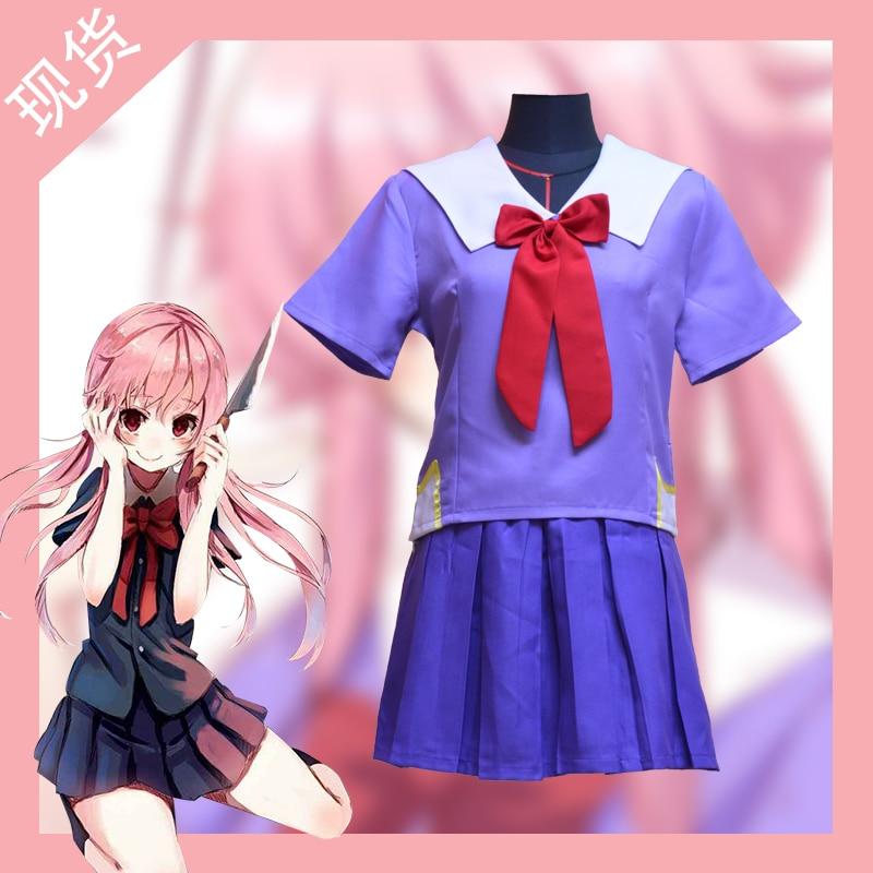 ANIME Future Diary Mirai Nikki Cos Akise Aru school uniform Cosplay Party Suit