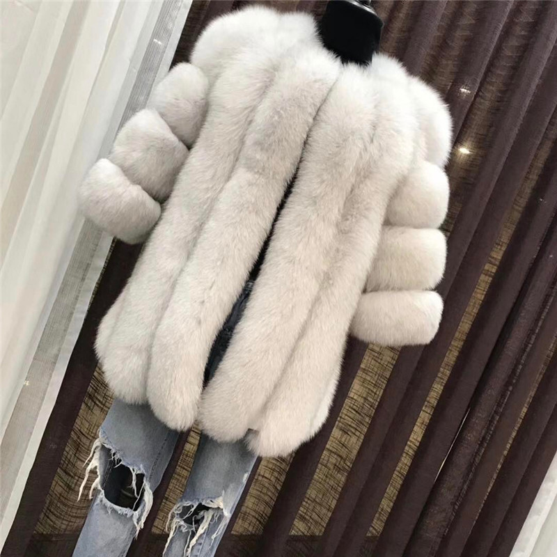 TOPFUR Winter Warm Real Fox Fur Coat For Women Full Pelt Fashion Natrual fur Jacket Female