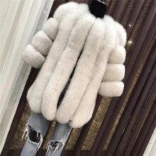 TOPFUR Winter Warm Real Fox Fur Coat For Women Full Pelt Fashion Natrual fur Jacket Female