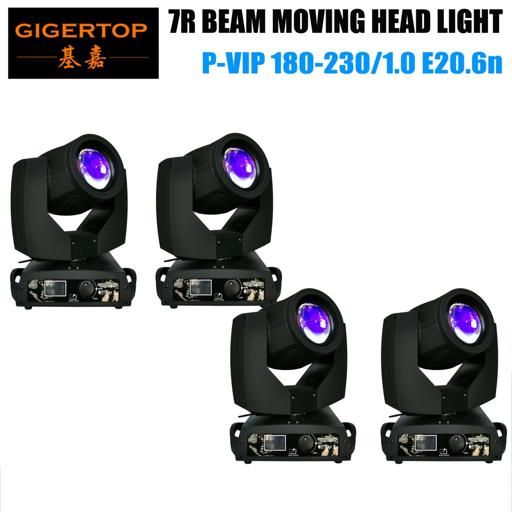 TIPTOP 4XLOT 230w sharpy 7r beam moving head light/osram 7R 230w beam moving head light/clay paky sharpy beam moving head light 7r beam sharpy moving head light 230w white housing moving head beam stage light beam 230 dmx dj disco club lighting