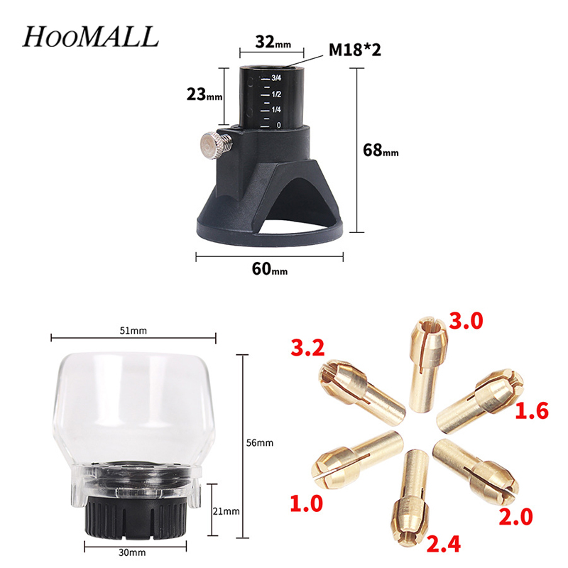 Hoomall 8PCs Professional Drill Grindering&Polishing Positioner Retainer Rotary Tool Accessory Electric Grinder Locator