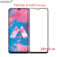2Pcs For Samsung Galaxy M30 Glass Tempered for Film Full Glue Screen Protector
