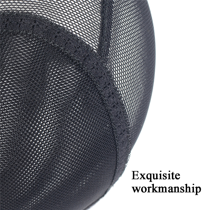 Breathable Mesh Dome Wig Cap For Making Wig Snood Stretchy Wig Cap Black