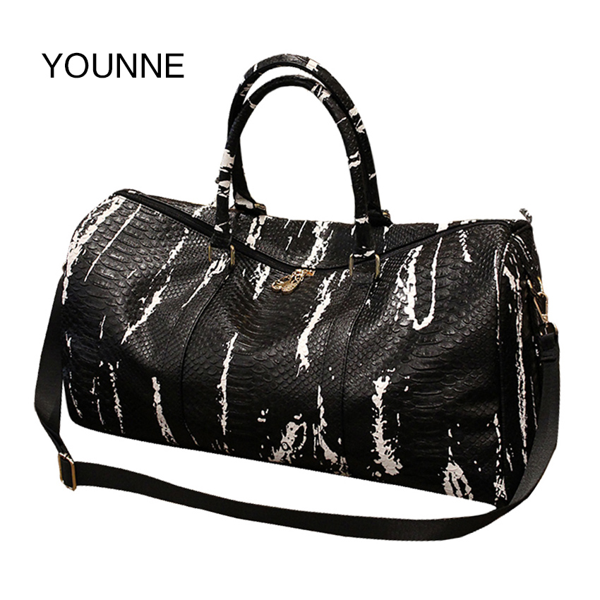 YOUNNE 2017 Women New Snakes Travel Bag Korean Edition Short Trip Package Bag Large Capacity Baggage Bags Shoulder Bag investing for dummies uk edition whs travel edition