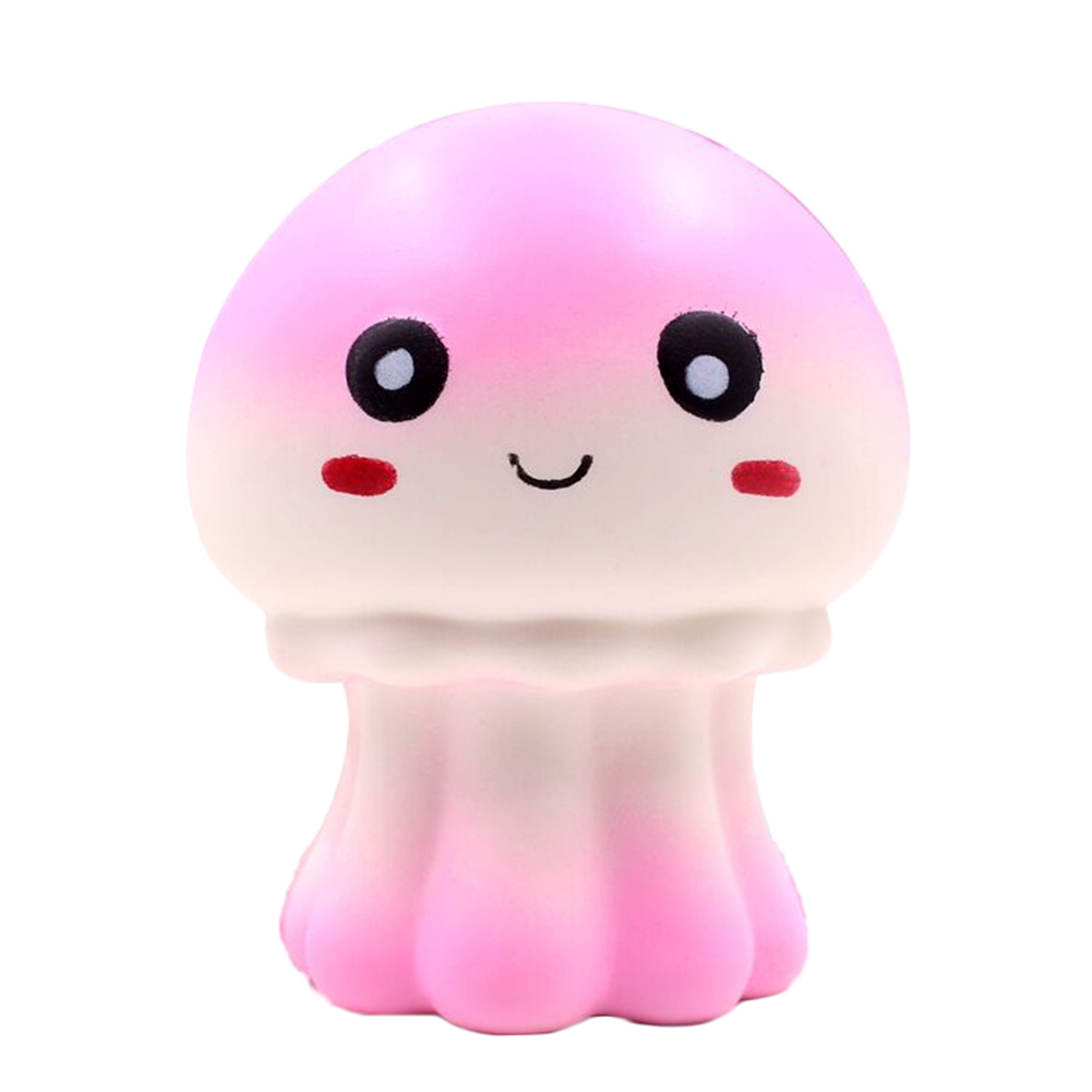Cute Squishy Jellyfish Simulation Octopus Slow Rising Anti Stress Soft Squeeze Cake Bread Kid Fun Toy Gift