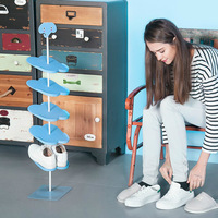 1Pc Creative Shoe Rack Kid/Adult Cartoon Animal Pattern Shoe Rack Holder Stand Storage Capacity Home Vertical Shoe Holder Hanger