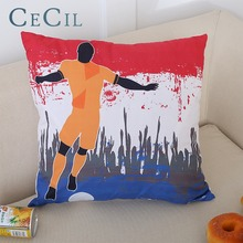 Cecil 45*45cm Pillow Cover Linen Cotton Home Decoration Throw Modern Style Sofa Car Comfortable Cushion